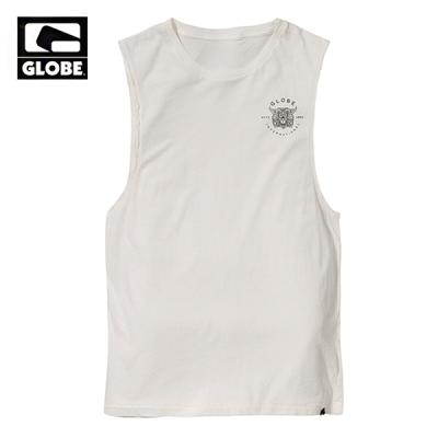[GLOBE] HOTHAM CUT OFF TANK TOP (BLANC)