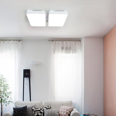 LED 심플 거실 4등 100W