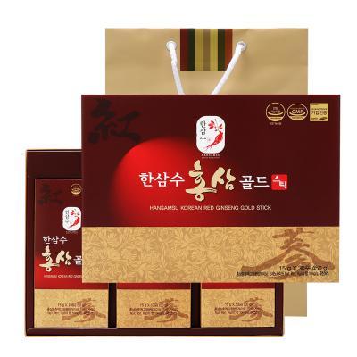 [쇼핑백증정]한삼수 홍삼 골드 스틱 15g×30포
