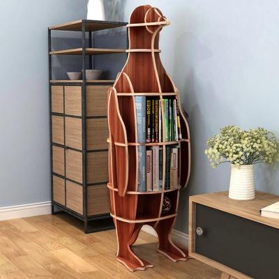 DIY 펭귄 동물모형 선반 책장 디자인 조립책장