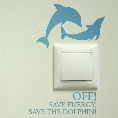 돌고래 (완제품B타입) (멸종동물 스위치스티커) 그래픽스티커 에너지절약 포인트 시트지