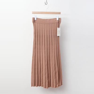 Laine Wool Sparkle Pleats Long Skirt
