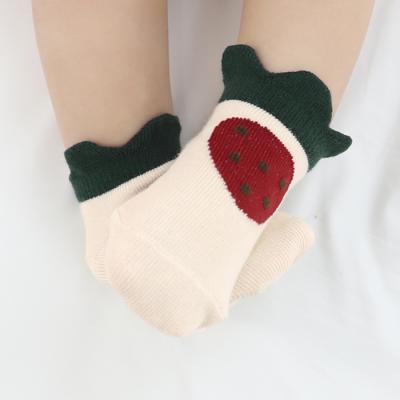 [메르베] 딸기 아기양말_여름용