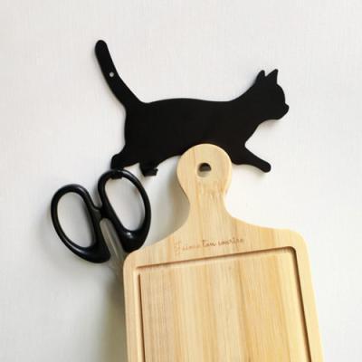 블랙 방수 메탈 고양이후크 1개