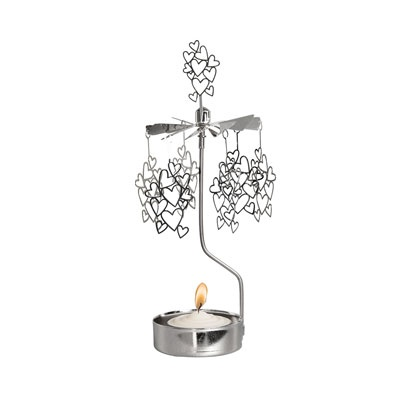 ROTARY CANDLE HOLDER SMALL HEARTS