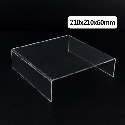 정사각 ㄷ형 아크릴 진열대 210x210x60mm 소품진열