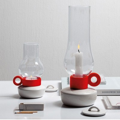 Lanterna&Bugia Candle Holders Red