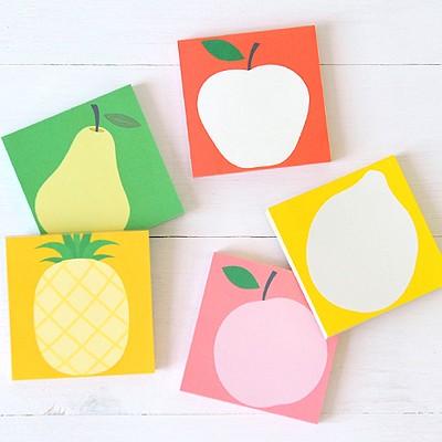왈가닥스 과일 메모블럭 - FRUIT-A (메모지,떡메모지,메모패드)