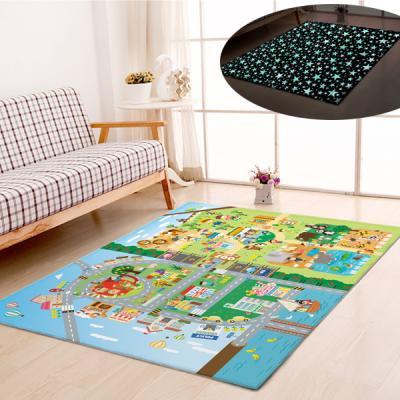 굿나잇 놀이방 야광매트 대형 150x200 마을동물원