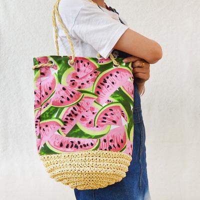 수박 썸머 라탄 왕골 숄더백 나들이가방