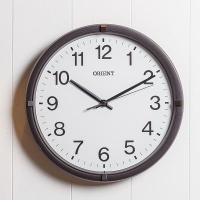 오리엔트 무소음 OT822 베이직브라운 인테리어벽시계