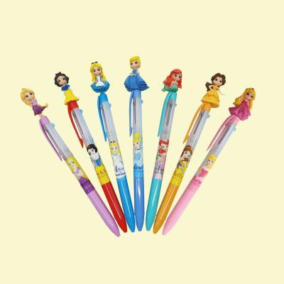 디즈니 귀여운 예쁜 공주 캐릭터 0.5 펜 3색 볼펜