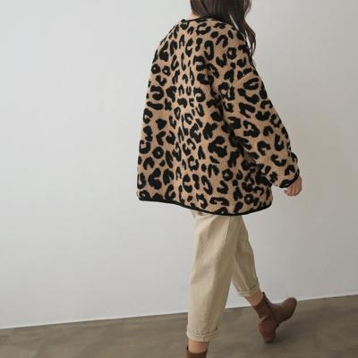 Leopard Teddy Bear Jumper - 누빔안감