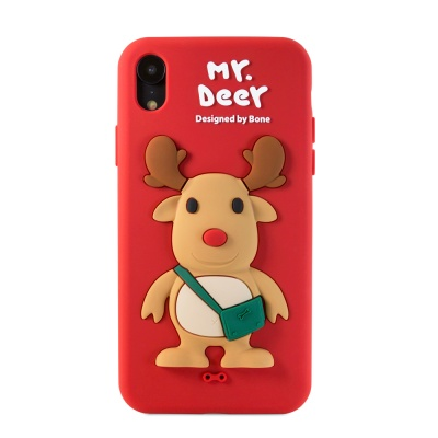 본컬렉션 큐케이스 사슴 아이폰 XR 실리콘케이스