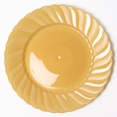 칼라 파티접시 라운드 23cm-골드(6입)