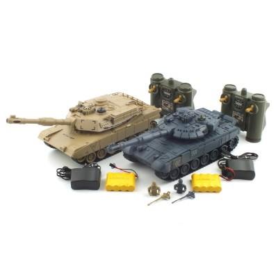 1/28 T-90 vs M1A2 (YAK161430SET) 배틀탱크 세트 무선모형 RC