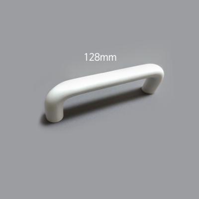 ㄷ자 봉 가구 싱크대 붙박이장 손잡이 화이트 (128mm)