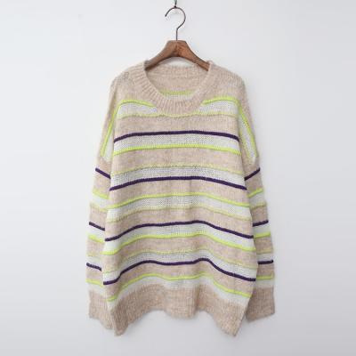 Wool Stripe Oversized Sweater