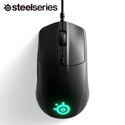 공식 정품 스틸시리즈 Rival 3 RGB 게이밍 마우스