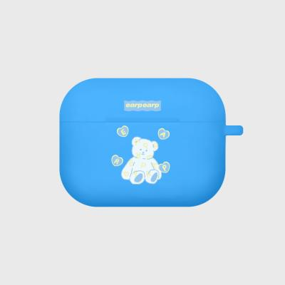 Soft bear-blue(Air pods pro case)
