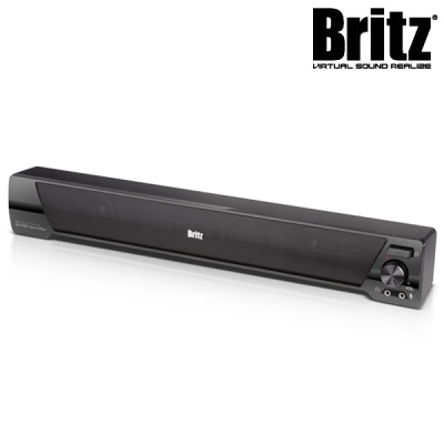 [브리츠] 사운드바 스피커 BA-R90 SoundBar (보조받침 고무패드 제공 / 정격출력 6W / 마이크 & 헤드폰 단자 / USB전원)