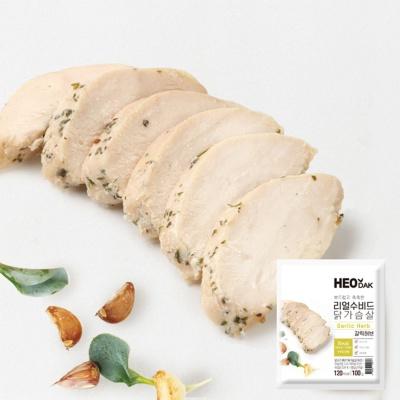 [허닭] 리얼수비드 닭가슴살 갈릭허브 100g 1+1