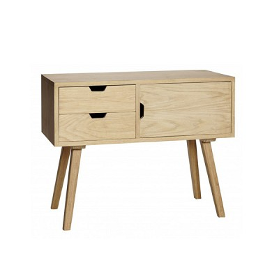 [Hubsch]Dresser w/2 drawers & door, oak, nature 889002 수납장