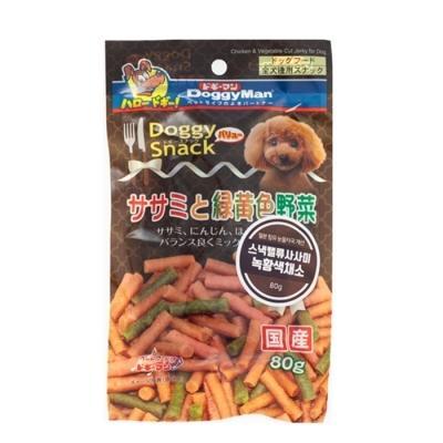 도기맨 스낵밸류 사사미+녹황색 채소 80g 강아지간식