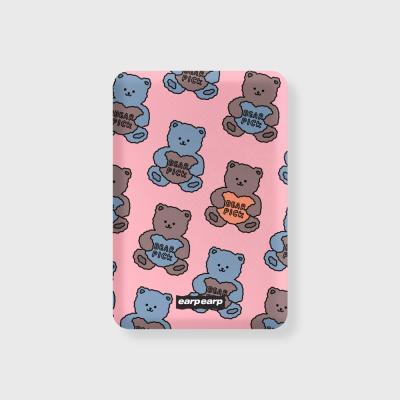 Bear pick-pink(무선충전보조배터리)