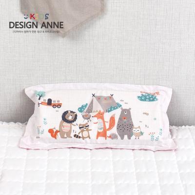 [디자인엔] 알러지케어 캠핑 키즈메모리폼베개-핑크