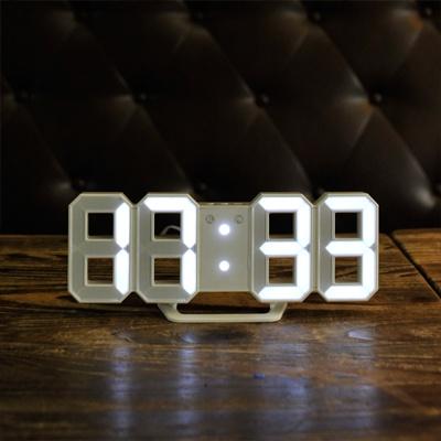 [무아스] 미니 화이트 LED 시계 탁상시계