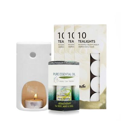 [ACS] 그린 Green 아로마세트 : 파인(소나무) 에센셜오일, 도자기램프, 티라이트