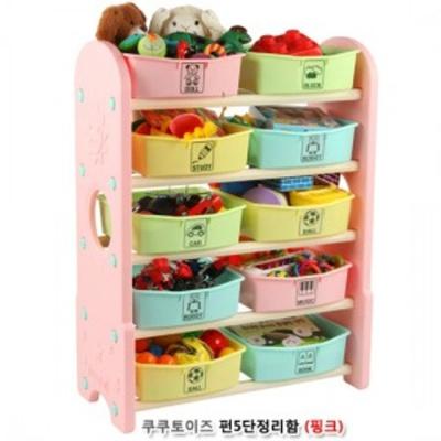 유아동 쿠쿠토이즈 펀5단정리함 핑크