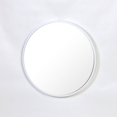 우드 카운티 원형 모던 벽거울 420-화이트