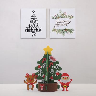 크리스마스 소품 DIY 트리 산타 노루 부직포 세트