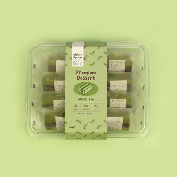 오마이스푼 랑떡 녹차맛 35g x 8개입/온가족 디저트