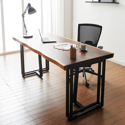 코디 1600x800 우드슬랩 책상 원목 테이블