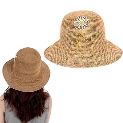 햇빛차단 모자 라피아햇 여자 창모자 버킷햇 베이지