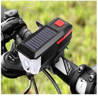 태양광 충전 자전거 LED 전조등 라이트 전자벨 USB