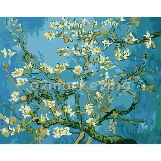 DIY 명화그리기 - DIY 아몬드나무 (G159) 40x50 그림 (유화/그림그리기/직접그리기/아크릴/취미/색칠)
