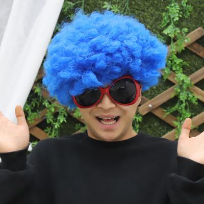 점보 삐에로 가발 (블루)