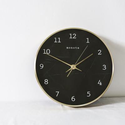 30cm 골드프레임 마블벽시계 (블랙)