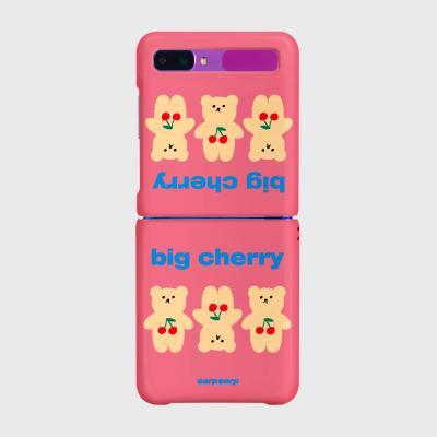 Three cherry big bear-pink(Z플립-하드)