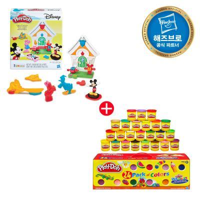플레이도우 24팩 + 미키마우스 플레이세트