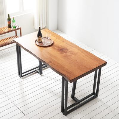 코디 1600x600 우드슬랩 식탁 4인용 테이블