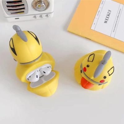 에어팟1/2/프로 귀여운 헬멧오리 캐릭터 실리콘케이스
