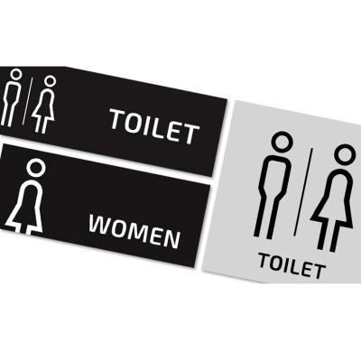 메탈 화장실 표시판 표지판 알림판 TOILET MEN WOMEN