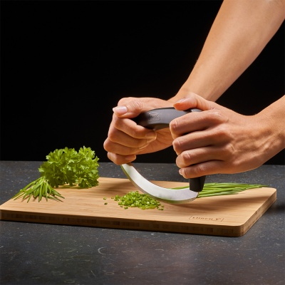 루치 쉽고 간단한 다용도 반달 모양 다지기 칼