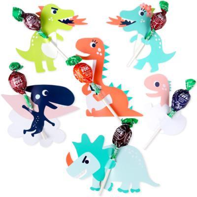 가자! 공룡 왕국 막대사탕 데코페이퍼 6개 (1set)