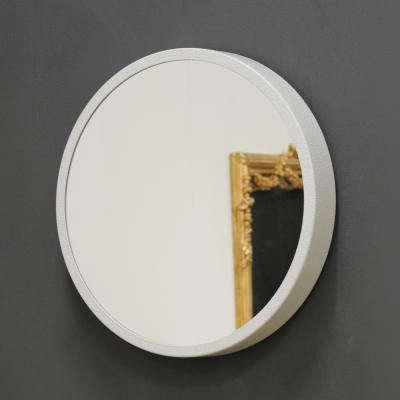 (kdrz147)스틸원형 거울 화이트